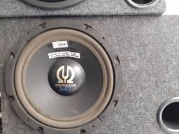 """Caixa com Sub Pioneer 12""""polegadas usado instalado no seu carro"""