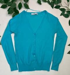 Cardigan Zara azul tam P