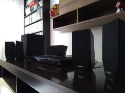 Home Theater Blue-Ray Sony - completo 3D Full HD E2100 Wi-Fi 1000w Netflix/YouTube