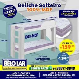 Título do anúncio: Beliche Solteiro 100% MDF, Compre no zap *