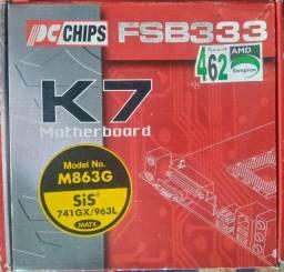 Placa Mãe PCchips colecionador - M863G nova na caixa