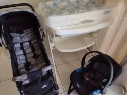 Título do anúncio: Tudo por900,banheira Burigotto splash,bebê confortoBurigotto touring,carrinho e ninho