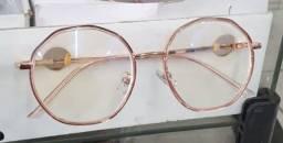 Armação de Óculos Feminino Rosê Vários Estilos Blogueira