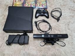 Título do anúncio: Xbox 360 Slim + Acessórios e 6 Jogos ( POSSO NEGOCIAR )