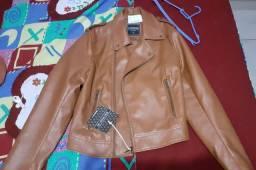 Jaqueta de couro C&A