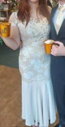 Título do anúncio: Vestido de festa longo (Cor Champanhe, bege, nude) Tam M