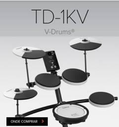 Título do anúncio: Vendo bateria eletrônica, Roland, TD-1KV  V-Ddrums.