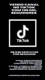 Conta no TikTok - 132k e 3M