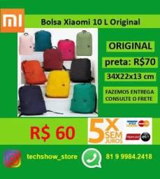 Bolsa Xiaomi 10L Original  Prova Agua - Dinheiro R$ 58 Cartao R$ 60 em 5x Sem Juros