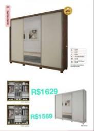 Título do anúncio: Guarda-Roupa, c/ 06 gavetas R$1629, c/ 04 gavetas R$1569, C/ espelho
