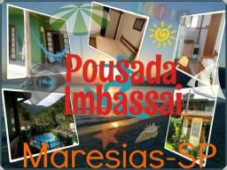 Título do anúncio: Hospede-se na Pousada Imbassaí em Maresias a uma quadra da praia