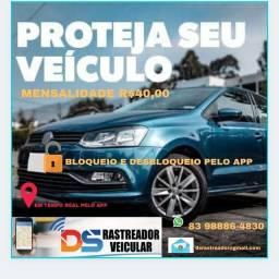 Título do anúncio:  Seu veículo  monitorado 24hrs pelo app ou site