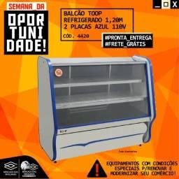 Título do anúncio: Balcao Toop Refrigerado. 1.20 2placas  Azul 110v Novo Frete Grátis