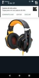 Headset gamer com microfone - NOVO