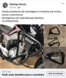 Título do anúncio: Peças de motos novas é seminovas