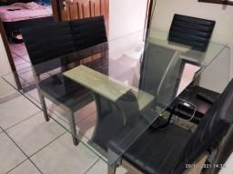 Título do anúncio: Vidro temperado mesa 6 cadeiras