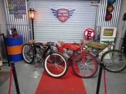 Réplica Harley Davidson Motos Antigas Bicicleta Motorizada