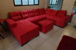 Título do anúncio: Sofá com chaise várias cores disponíveis