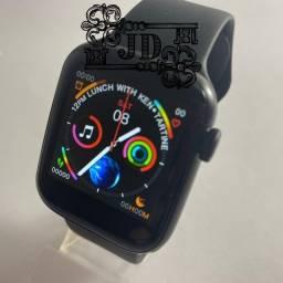 smartwatch W34 - pulseira fixa, notificações WhatsApp, exercícios físicos, chamadas.