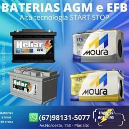 Título do anúncio: Bateria agm bateria efb bateria carro bateria automotiva