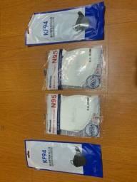 Título do anúncio: 6 máscaras 2 N95 (PFF2) brancas e 4 KF95 pretas