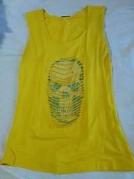 Blusa de malha amarela