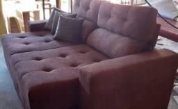 Sofa retratil reclinavel 2mts pronta entrega