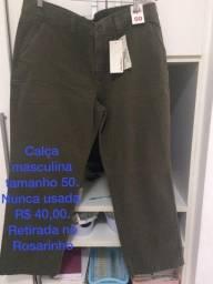 Calça masculina tamanho 50