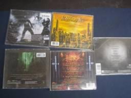 Lote de cds de metal originais usado