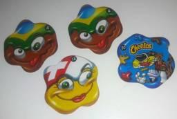 4 Tazos Flag Loucos - Elma Chips