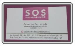 Cartão de visita hot-stamping