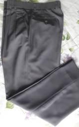 Calça social microfibra cinza tamanho 42