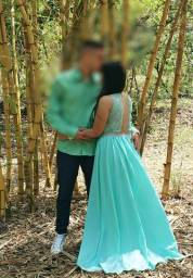 Vestido verde claro