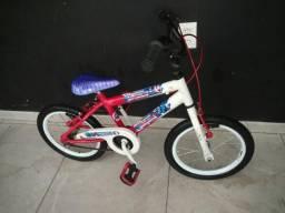 Bike infantil aro 16 Capitão América , semi-nova