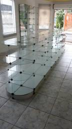 Ilha de vidro para loja