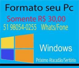Formatação de Computadores e Notes R$ 30,00