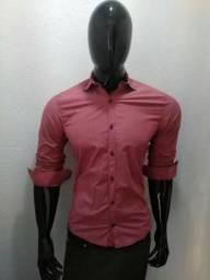 Camisa Social Pool Slim Fit Original Seminova 0f42f5f567c11