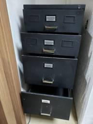 Título do anúncio: Arquivo em metal para escritório, na cor preta - R$ 230,00