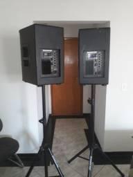 Caixa de Som Ativa e Passiva 12 Polegadas 350w cada nova original Preço das 2 caixas
