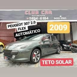 Peugeot 307 2.0 flex feline automático com teto solar - 2009