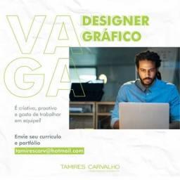 Vaga de emprego designer gráfico