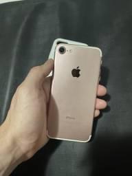 IPhone 7 32gb rose c/nf (passo cartão)