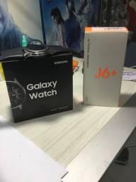 Celular J6+ relógio galaxy watch 46mm