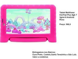 Tablet Multilaser Kid Pad Plus 8gb 7 3g/wi-fi Android Rosa- Enviamos transportadora Brasil