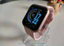 Smartwatch D20 FitPro Rosê Original Notificações de Redes Sociais Modo esporte