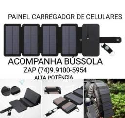 CARREGADOR SOLAR PARA CELULARES ETC.