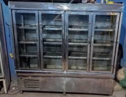 Freezer de inox para comércio