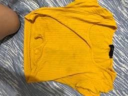 Blusa cropped amarela