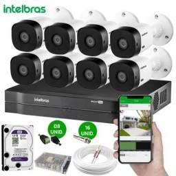 Título do anúncio: Câmeras De Segurança 8 Câmeras Resolução 720p
