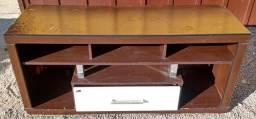 Título do anúncio: Rack marrom com 1 porta branca.